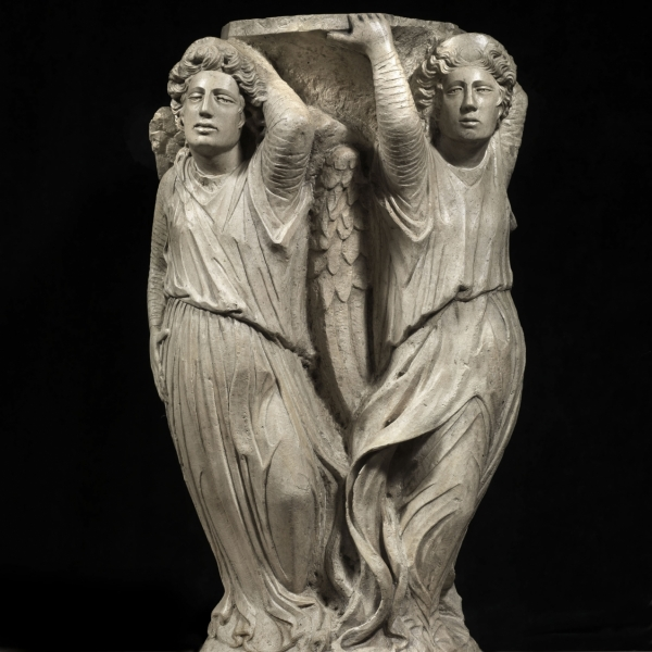A pair of telamon angels,  1460-75 ca. - Bacarelli Antichità